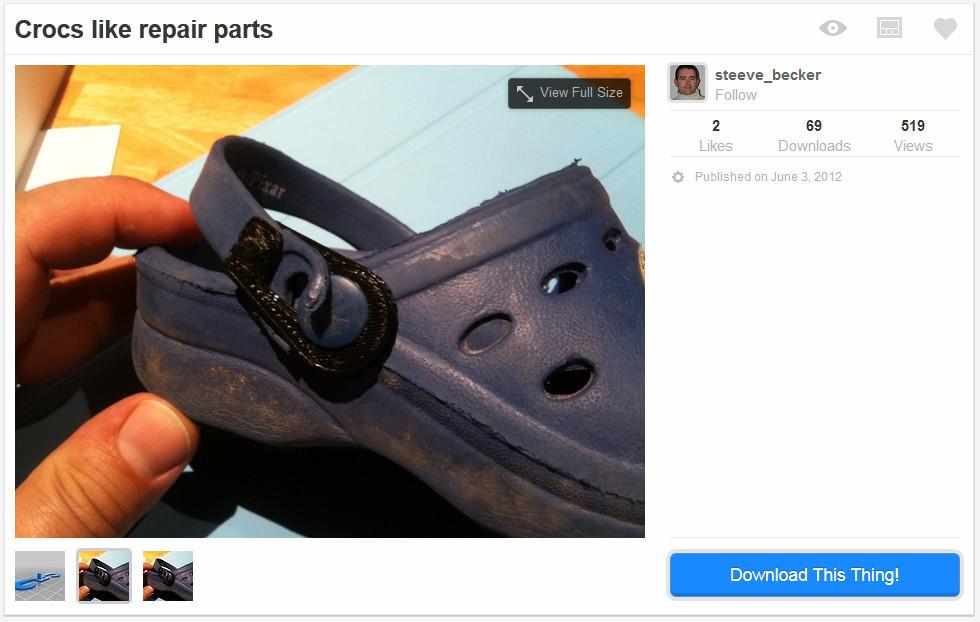 Thingiverse - Repair Parts