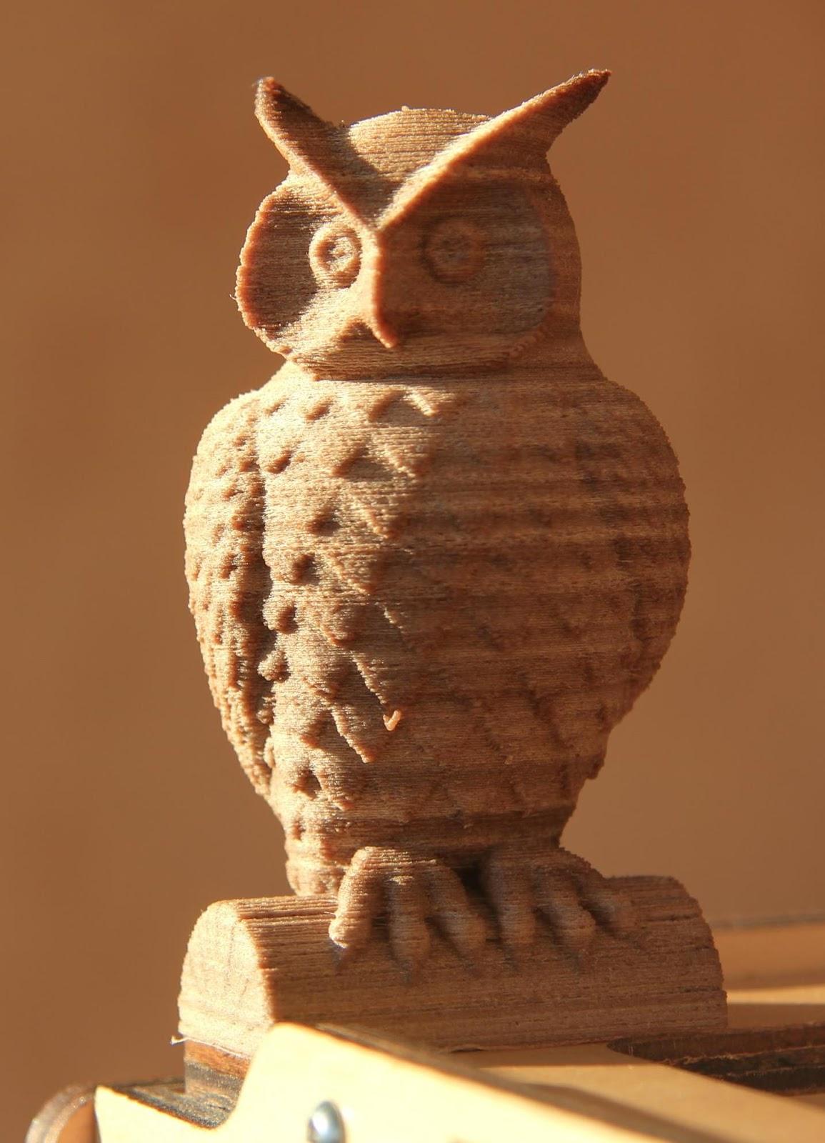 Laywood owl - tridimake.com