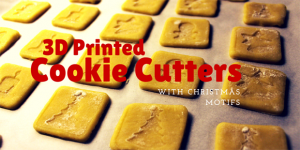 3D Printed Cookie Cutters with Christmas Motifs