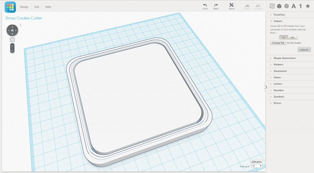 Importing the .svg files into TinkerCAD