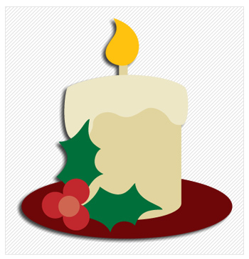 Christmas Candle Motif