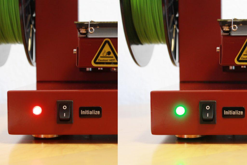 Afinia H480 LED states